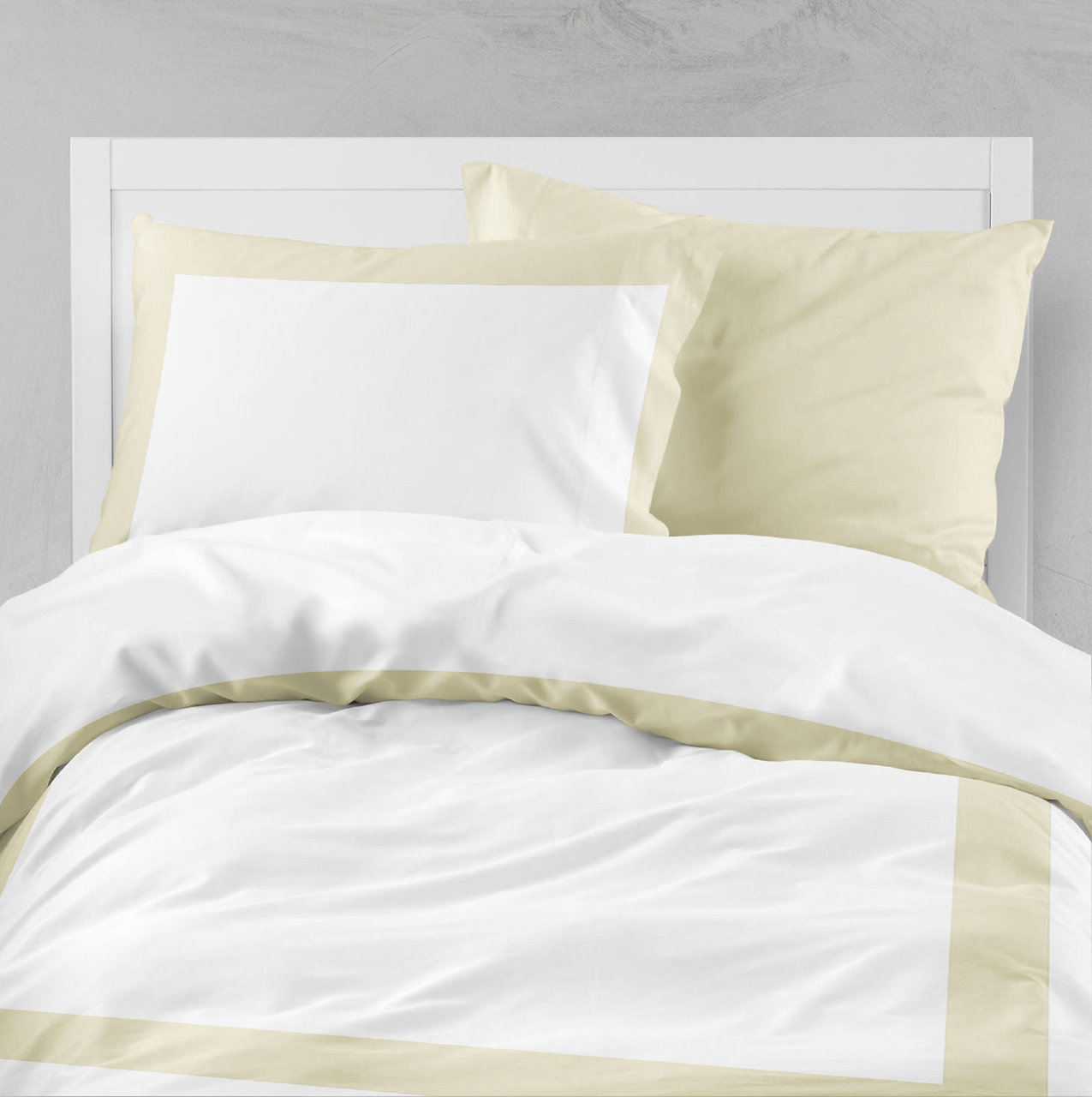 SHAM PAIR QUEEN SOLID COLOR IVORY