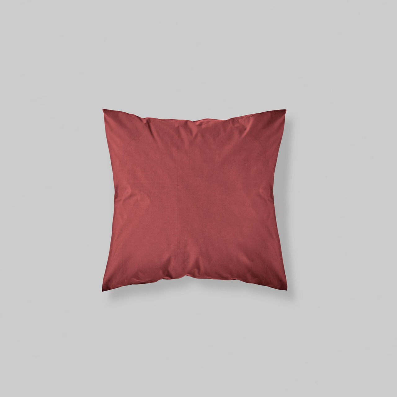 EURO SHAM PAIR SOLID COLOR ROSE RED