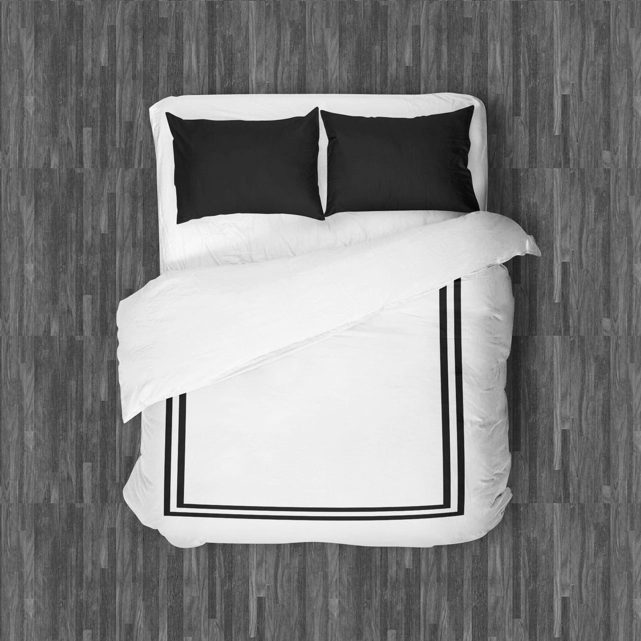 AMALFI DUVET QUEEN BLACK