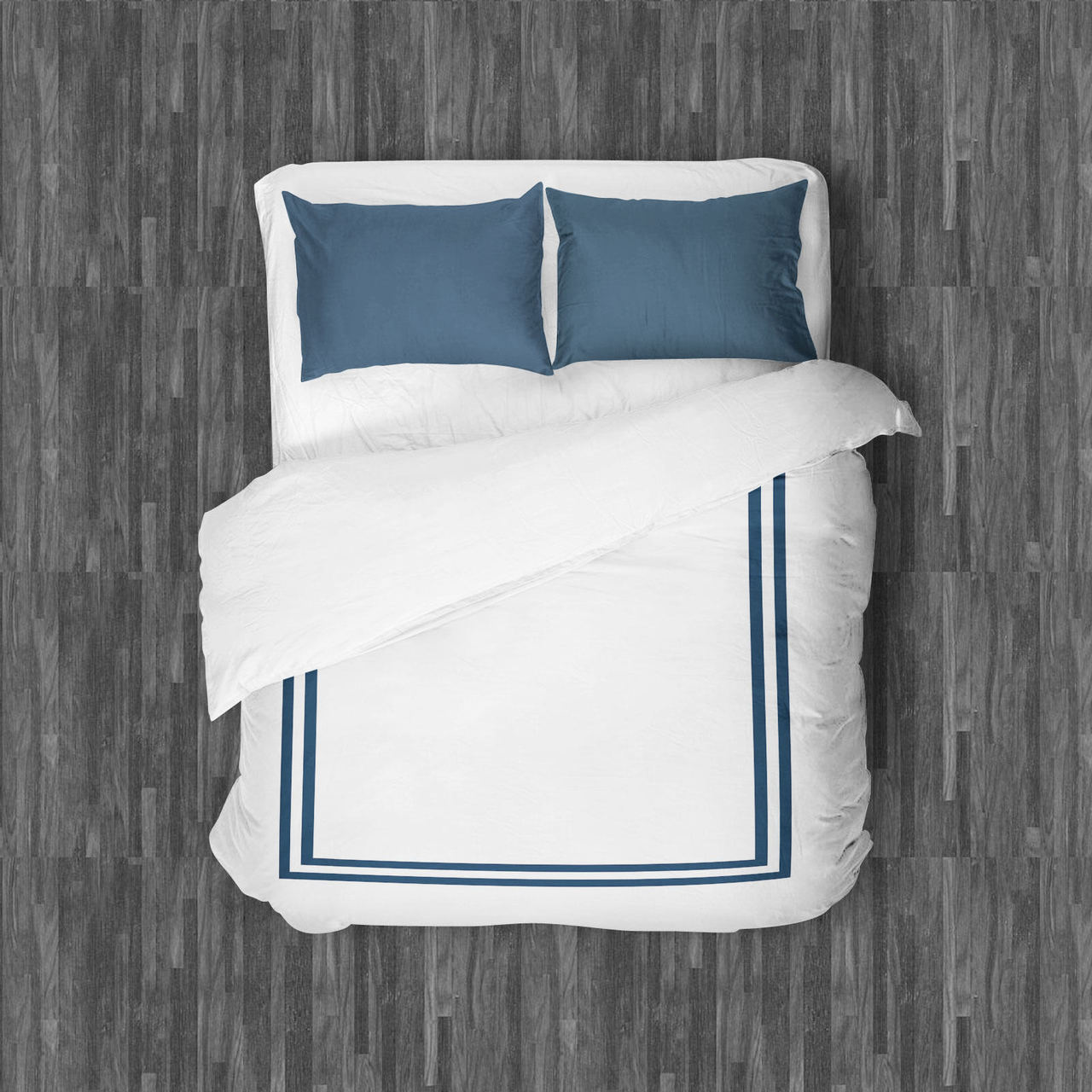 AMALFI DUVET QUEEN NAVY'S BLUE