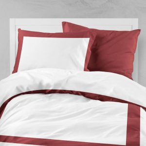 AMALFI DUVET QUEEN ROSE RED