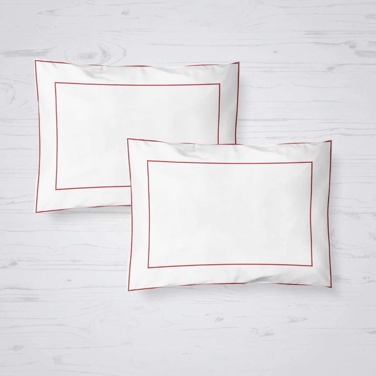 MILANO SHAM PAIR QUEEN ROSE RED