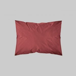 SHAM PAIR QUEEN SOLID COLOR ROSE RED