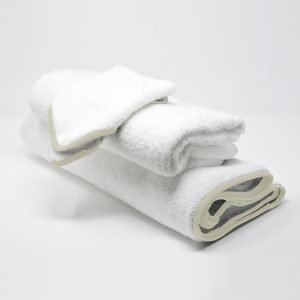 BATH TOWELS SET IVORY