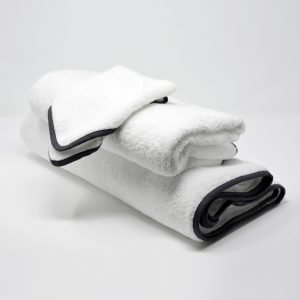 BATH TOWELS SET BLACK