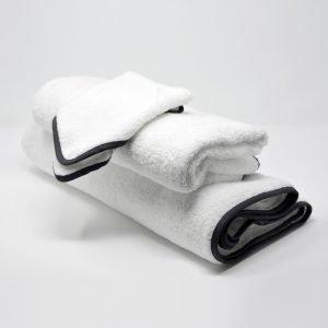 BATH TOWELS SET BLACK