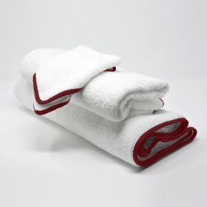 BATH TOWELS SET ROSE RED