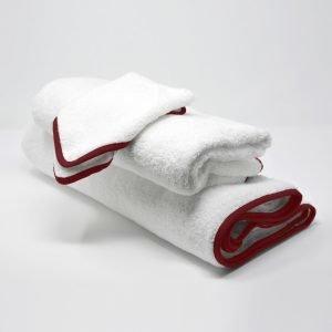 BATH TOWELS SET ROSE RED