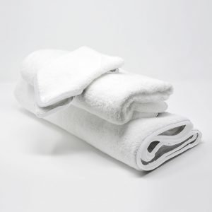 BATH TOWELS SET WHITE